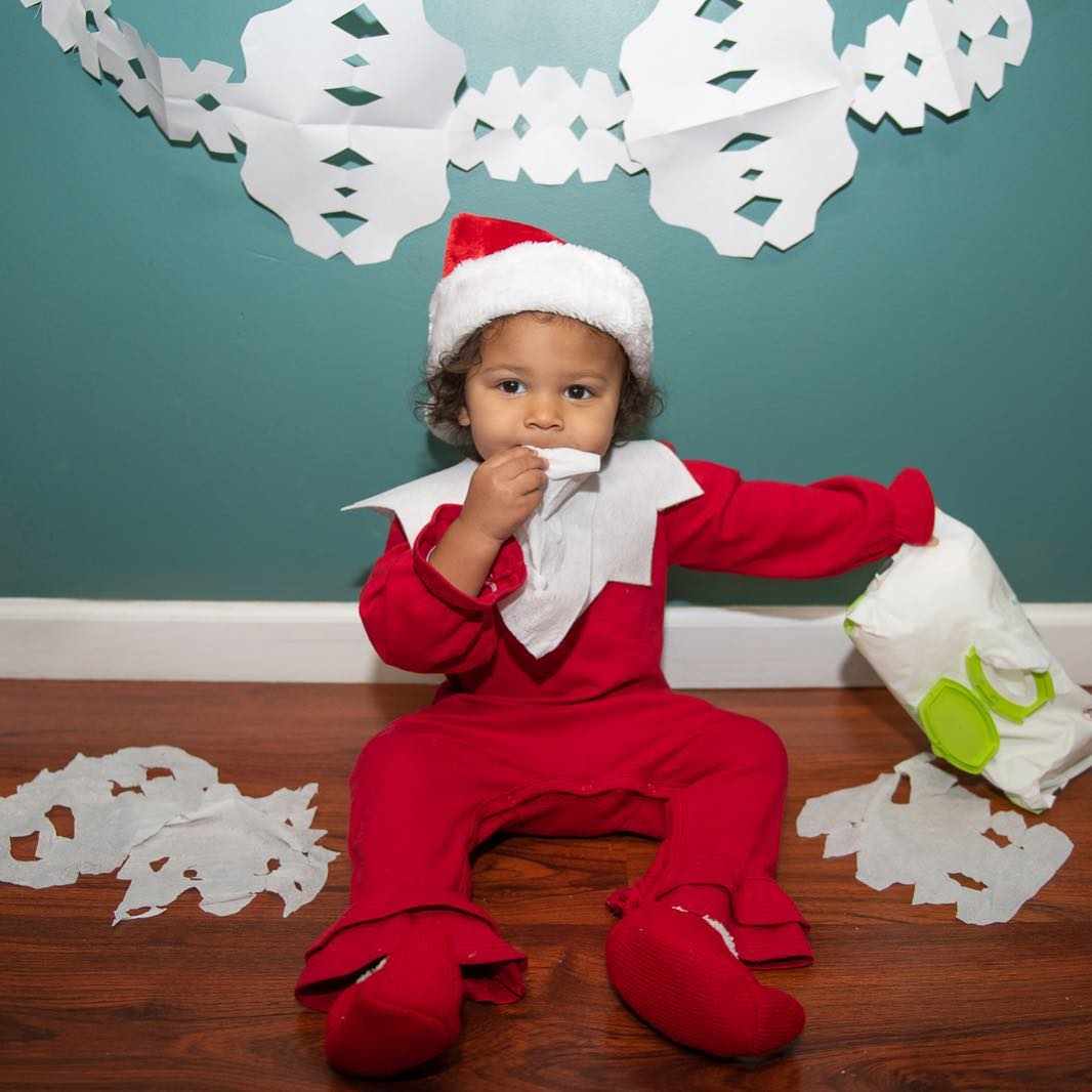 Day 11 - Baby Wipe Snowflakes