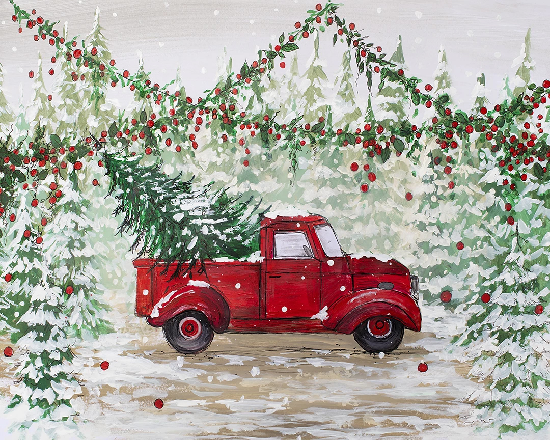 Vintage Red Truck - Nov. 30th - Step back in time when the holidays were simpler. Snuggle up with your family in the back of the iconic Vintage Red truck enjoying hot cocoa. (Sample photos coming soon)