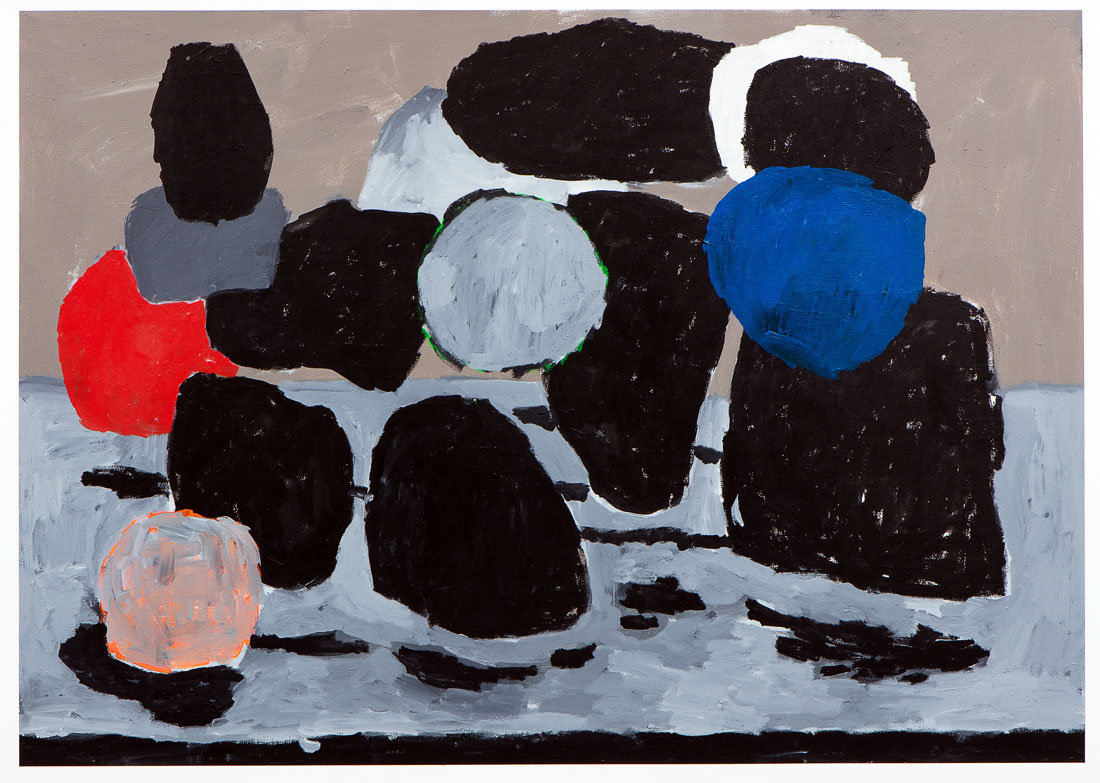 LUC FULLER -Untitled, 2015  Acrylic on canvas 52 x 76 in (132.08 x 193.04 cm)  Estimate $7,000 - $8,500