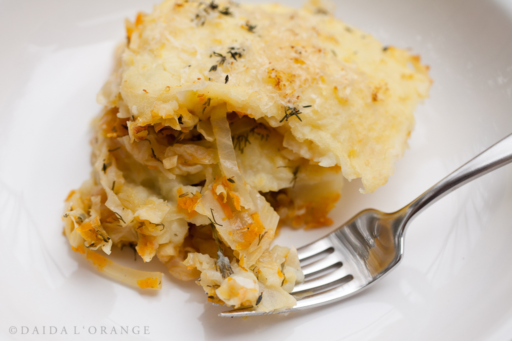 Dilled Potato and Cabbage Gratin