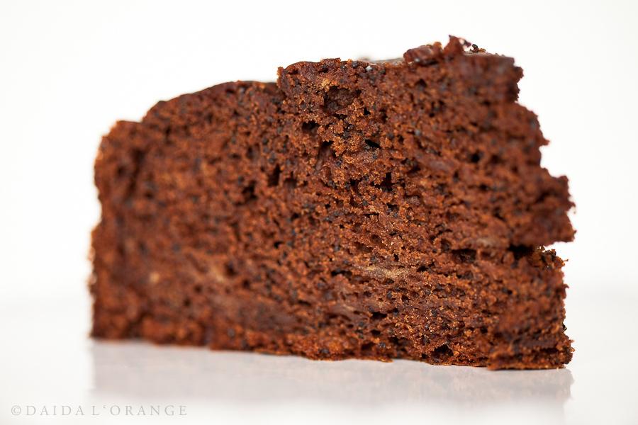 Chocolate Banana Poppyseed Cake