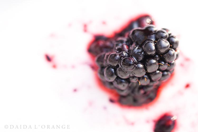 Smashed...a blackberry