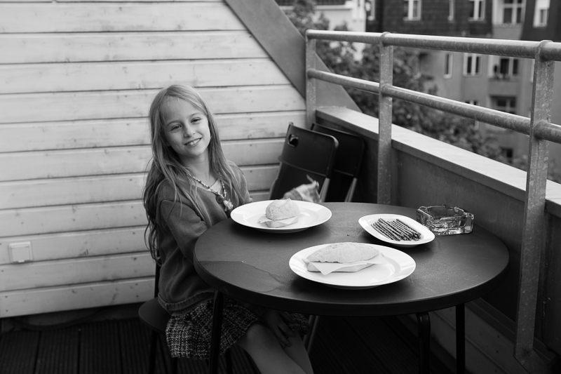 lunch on balcony
