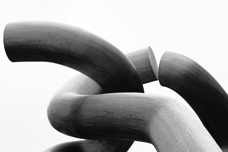 link sculpture close up