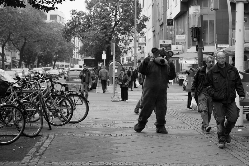 berlin bear at dm corner