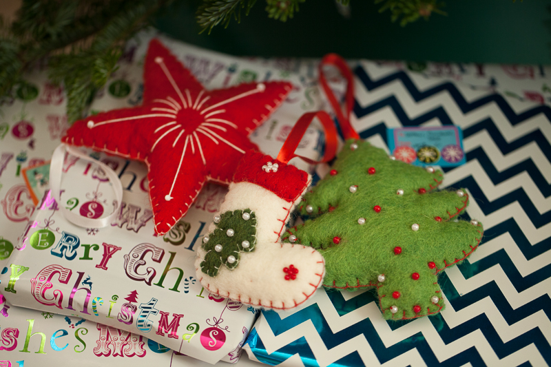 Irish felt ornaments