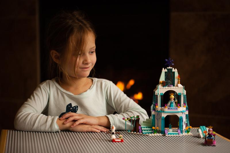seena frozen lego castle
