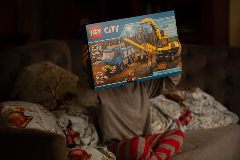 excavator and truck lego set