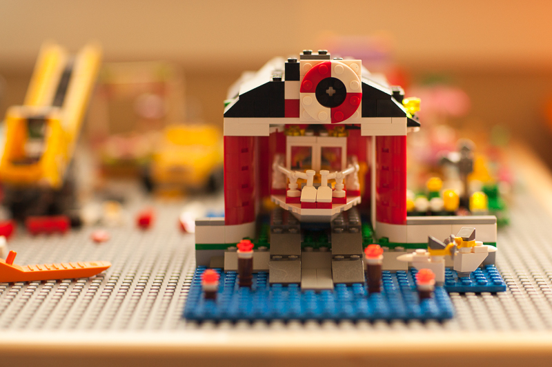 lego boathouse finished