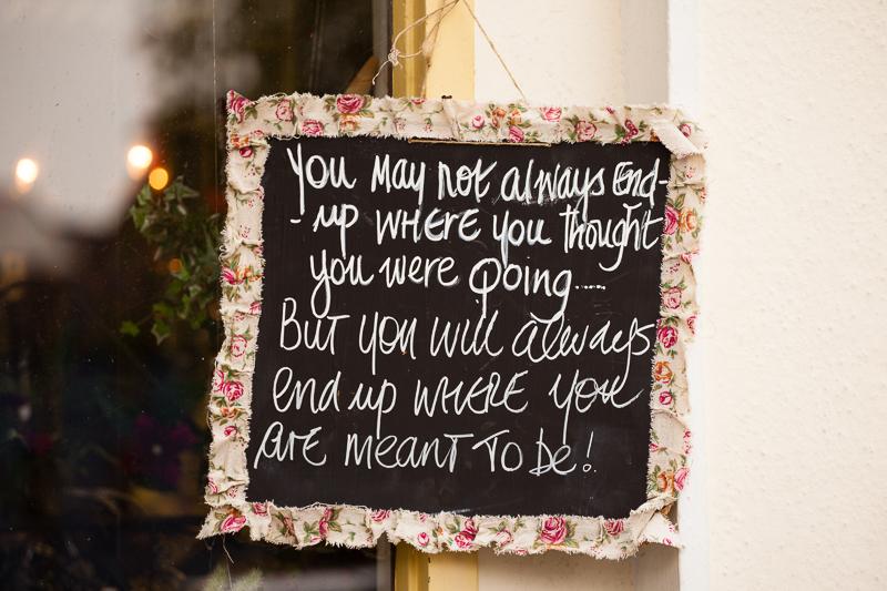 flower shop sign cork