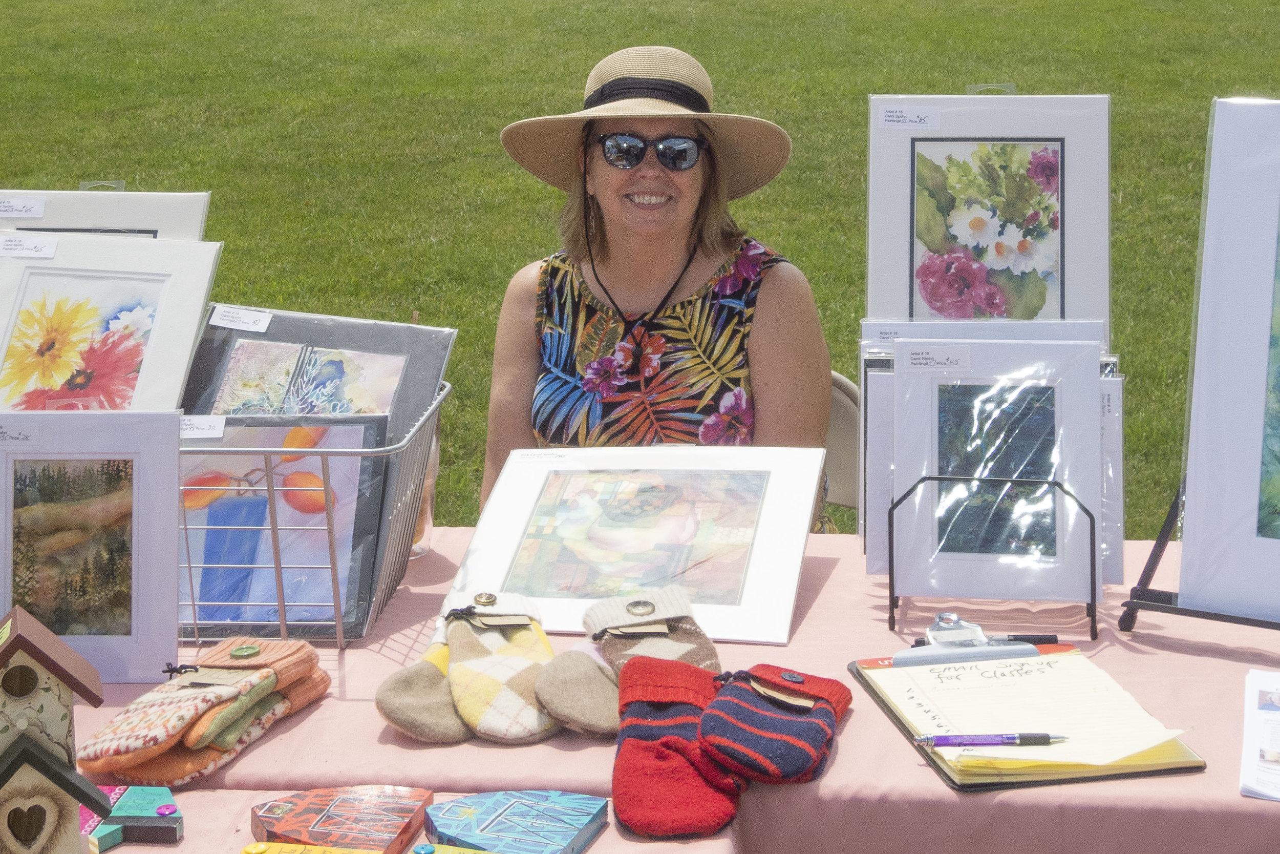 Carol Spohn smiles for sales