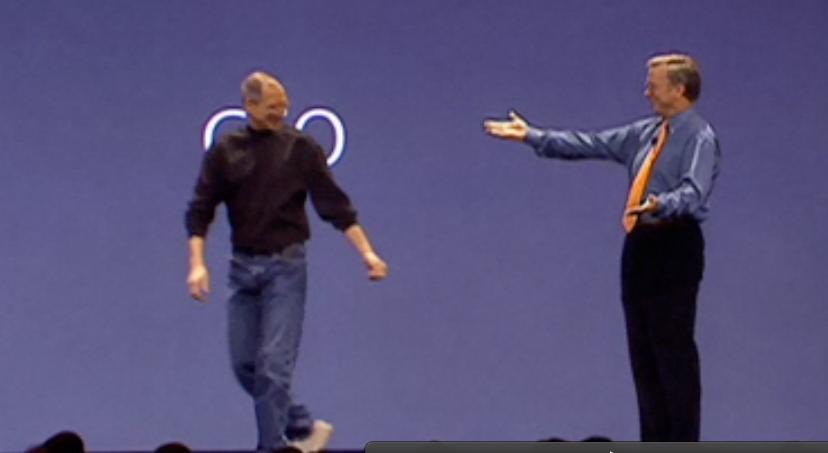 Jobs and Schmidt at MacWorld 2007 Keynote
