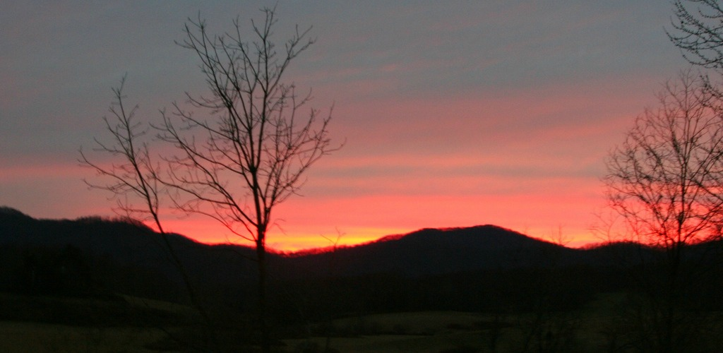 Sunset view from front porch