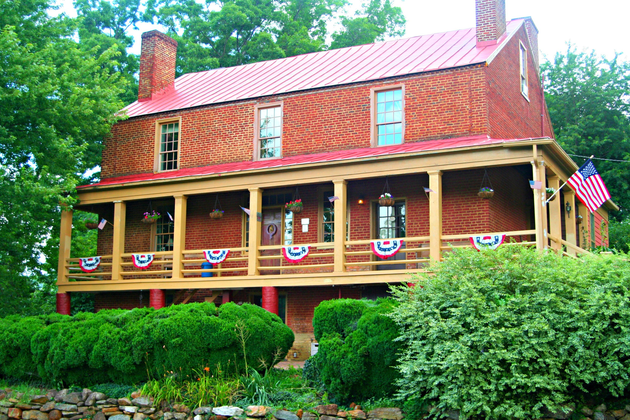 The Inn dressed up for the Fourth of July