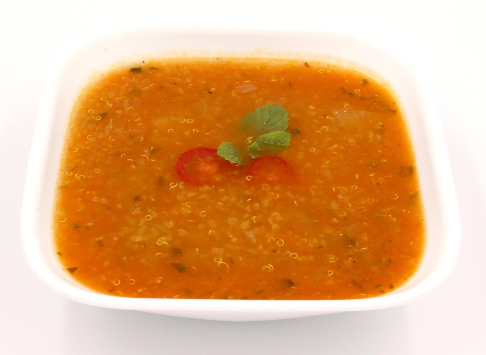 QUINOA TOMATO BASIL SOUP  Warm and Comforting
