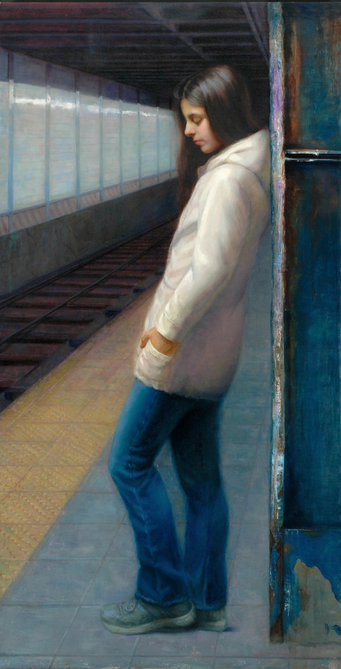 Right Track, Oil on Canvas, 28x54 inches