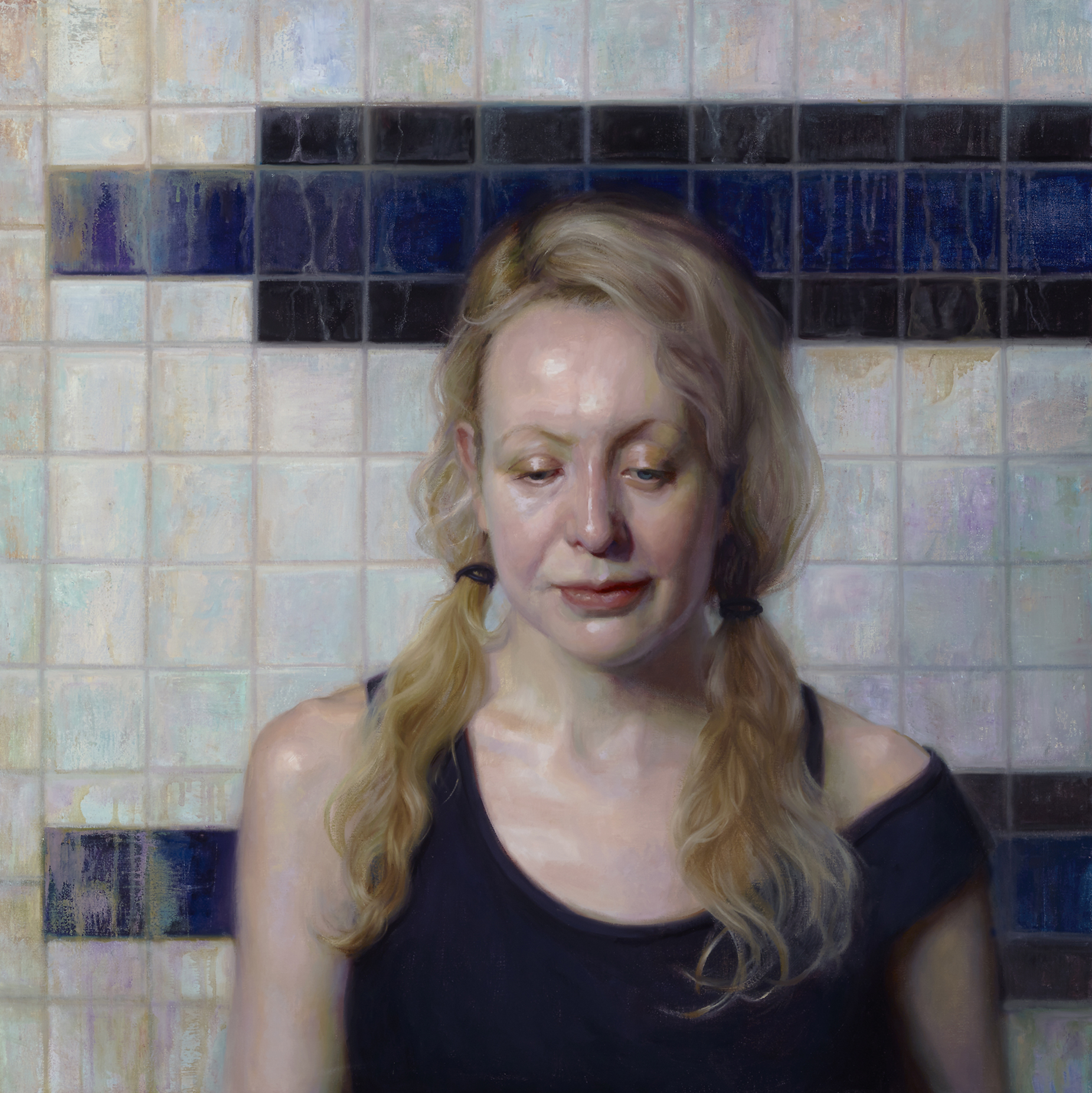 """Jenne"", Oil on Linen, 36 x 36 inches, 2018"