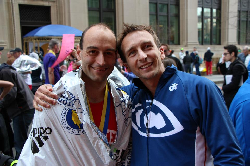 Ryan Irwin and I after finishing the 2013 Boston Marathon