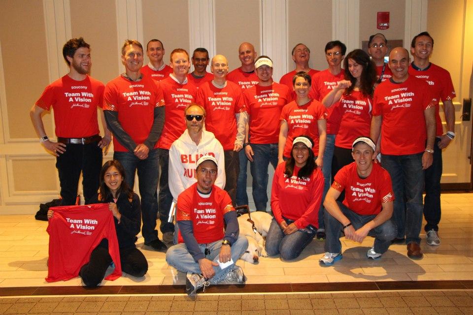 2013 Team With A Vision at Boston Marathon