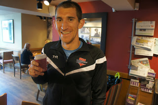 Colin and his small but powerful English coffee. Cheers :)