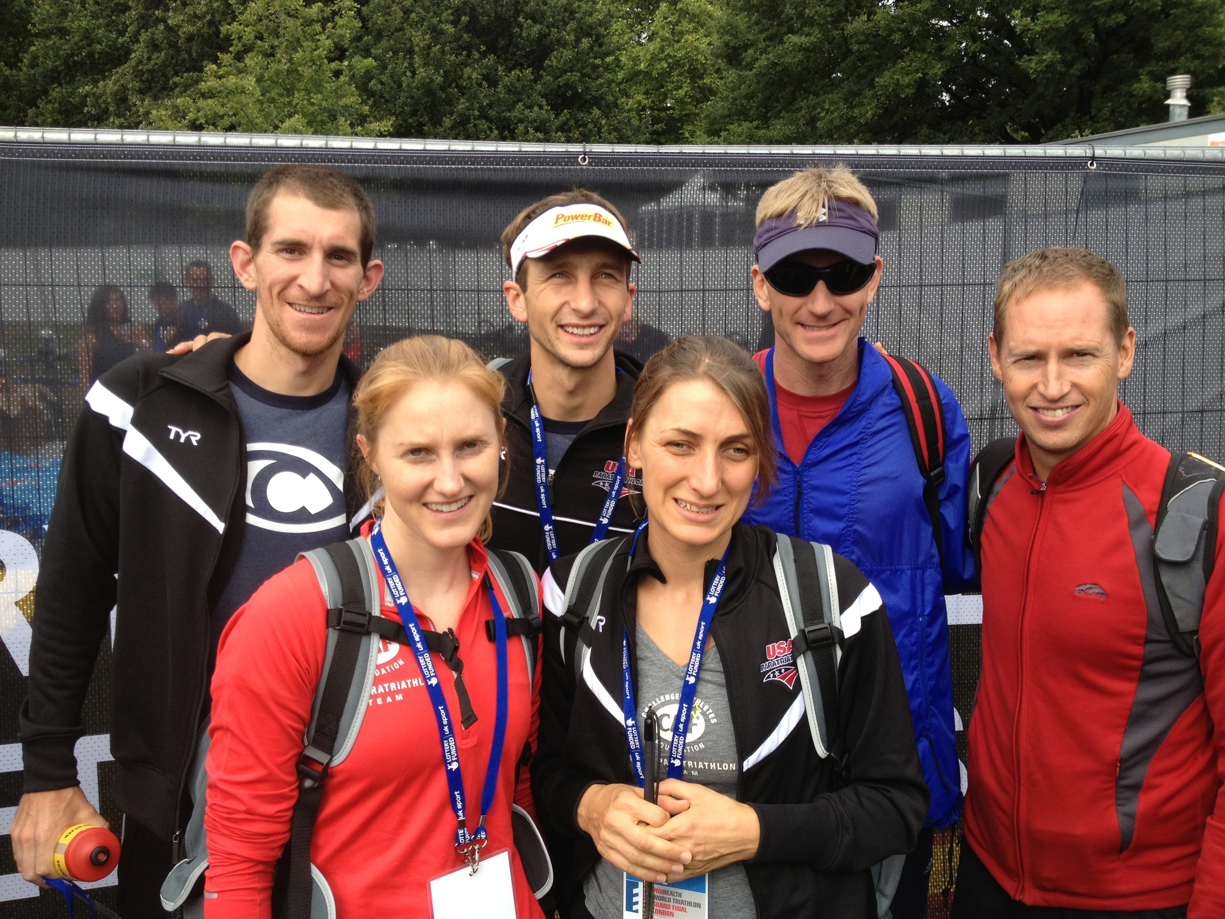 Hanging out with some of the other US Tri 6 athletes including Patricia Walsh, Jeremy Winters and their guides.