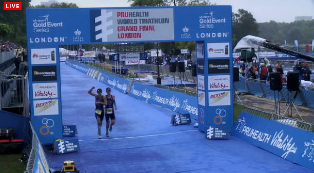 A screen shot photo of our finish at the 2013 World Championships