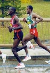 """Just run with the Kenyans or Ethiopians and they will teach you """"free speed"""". Look at their foot position under their hips."""