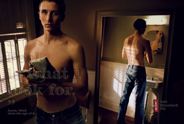 In 2004, Levi's ran a campaign out of Europe on how their jeans feel as opposed to how they look. I was given an amazing opportunity to be a part of this ad campaign which ran in GQ and Esquire UK.