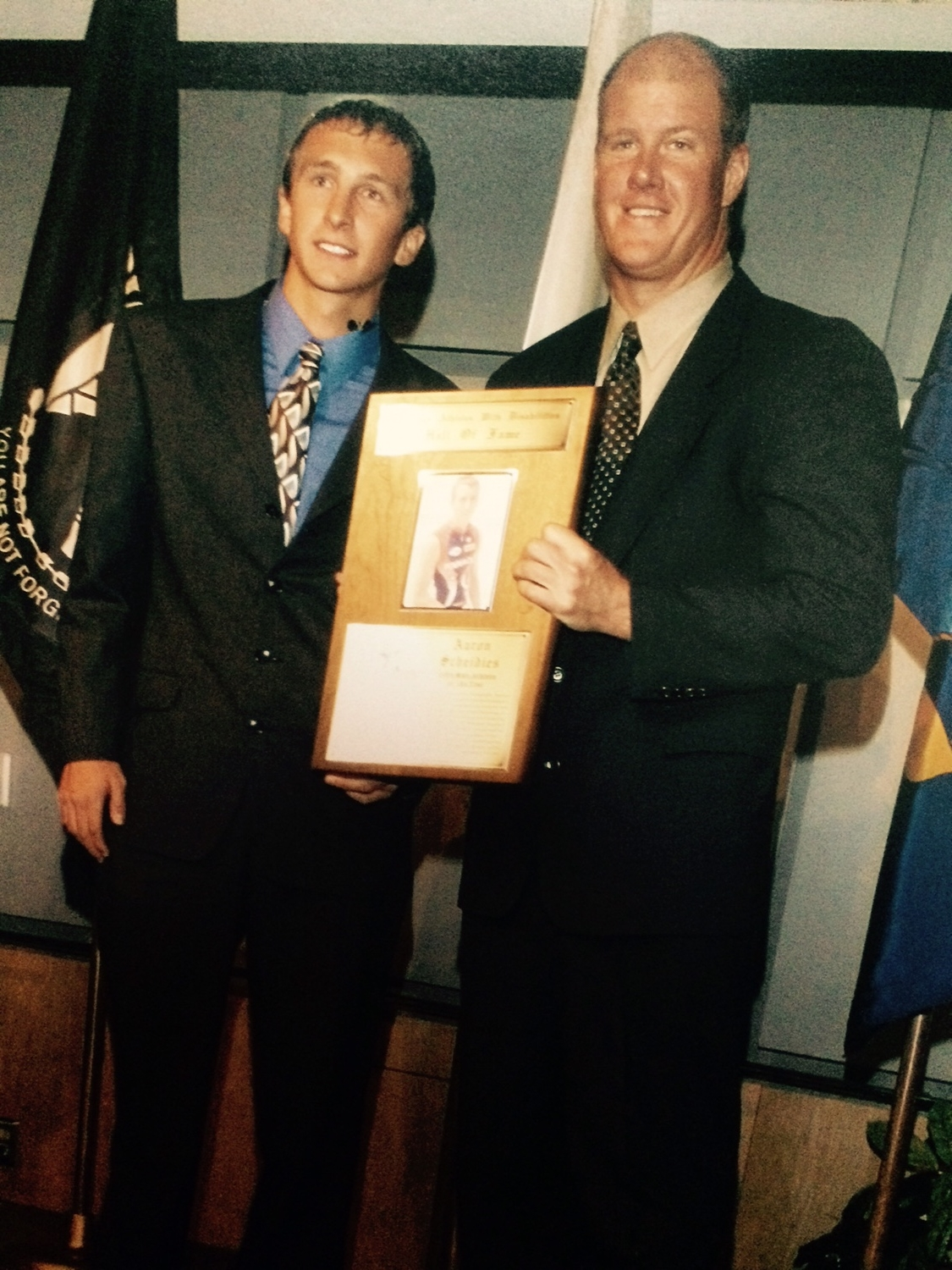In 2004, I was inducted into the Athletes With A Disability Hall of Fame. Former MLB pitcher Jim Abbott spoke and inducted the class of inductees into this very group that gets selected for this honor.