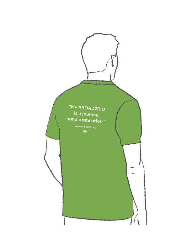 Get a #Road2Rio Fundraiser Shirt!