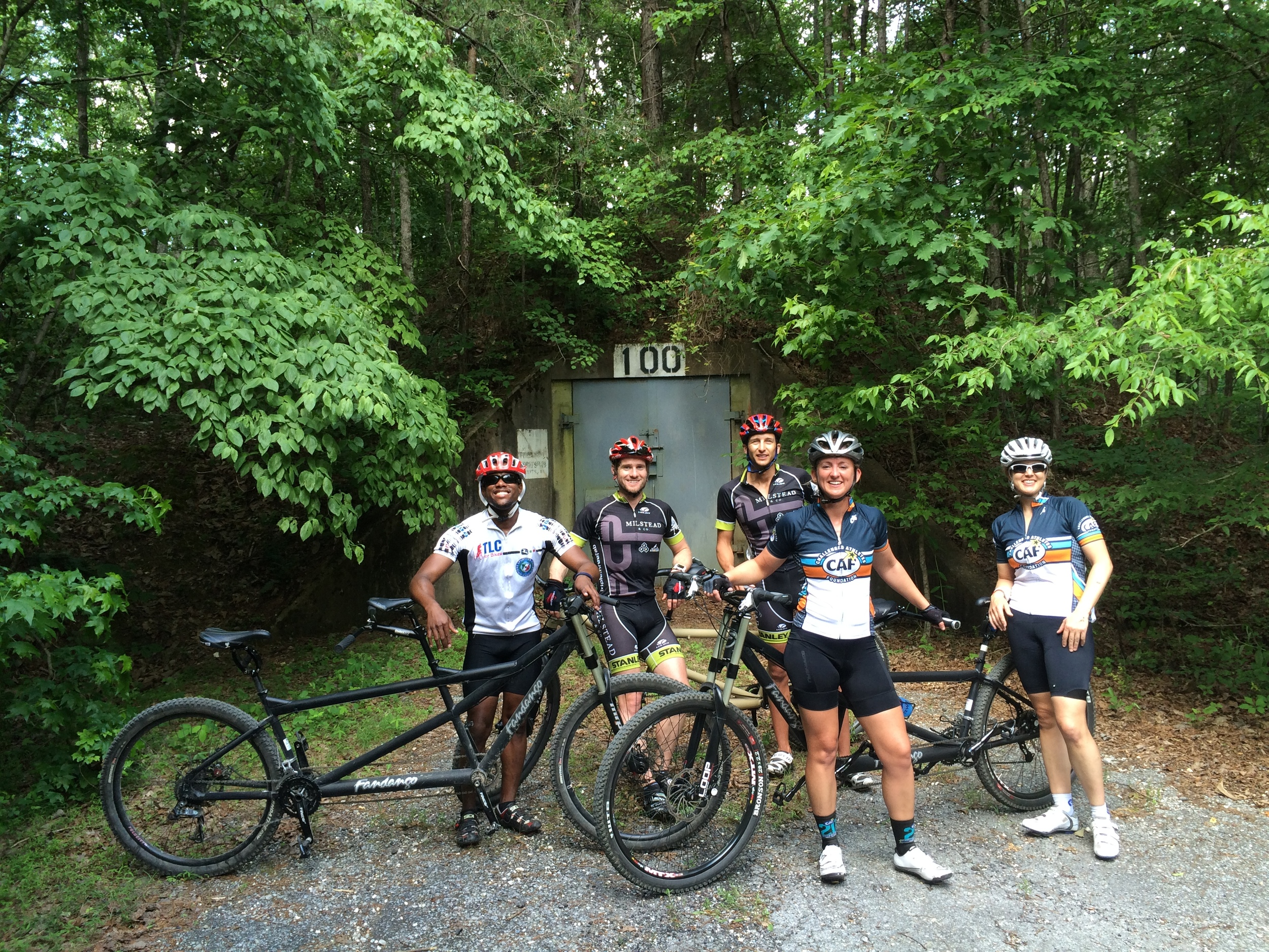 Mountain bike tandem riding after Nationals in Chattanooga was amazing thanks to Greg Miller.