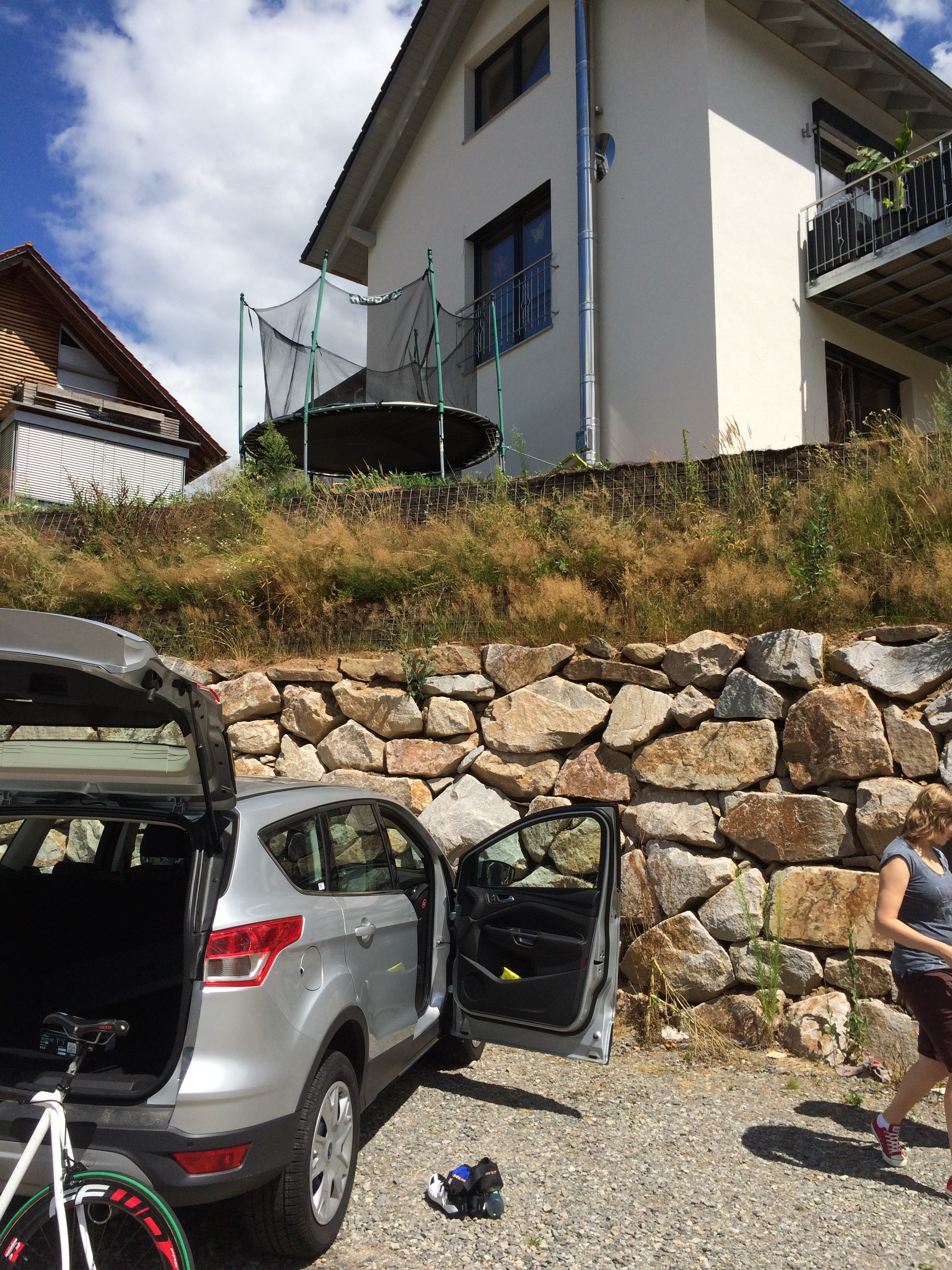 The crime scene in Elzach where the kids toys did our rental car in!