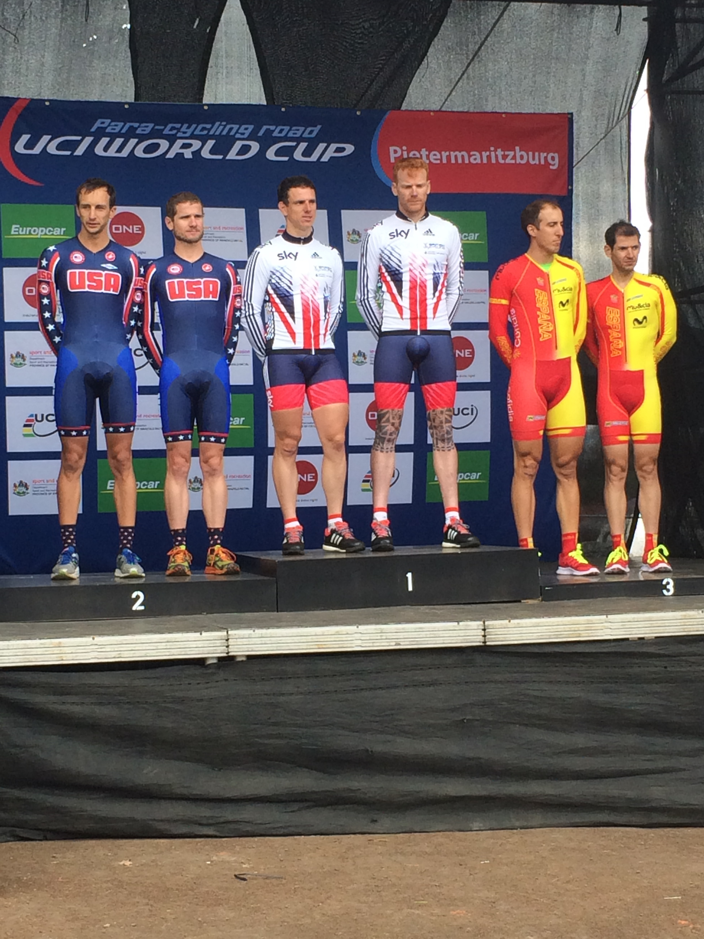 Took Silver at UCI World Cup #4 TT in South Africa