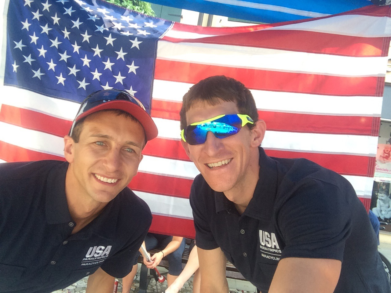 Colin Riley and I racing for Team USA in Europe 2015. Colin is a class act guy!