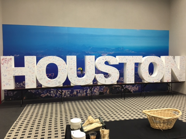 If we didn't already know we were in Houston, we did now with these giant letters!