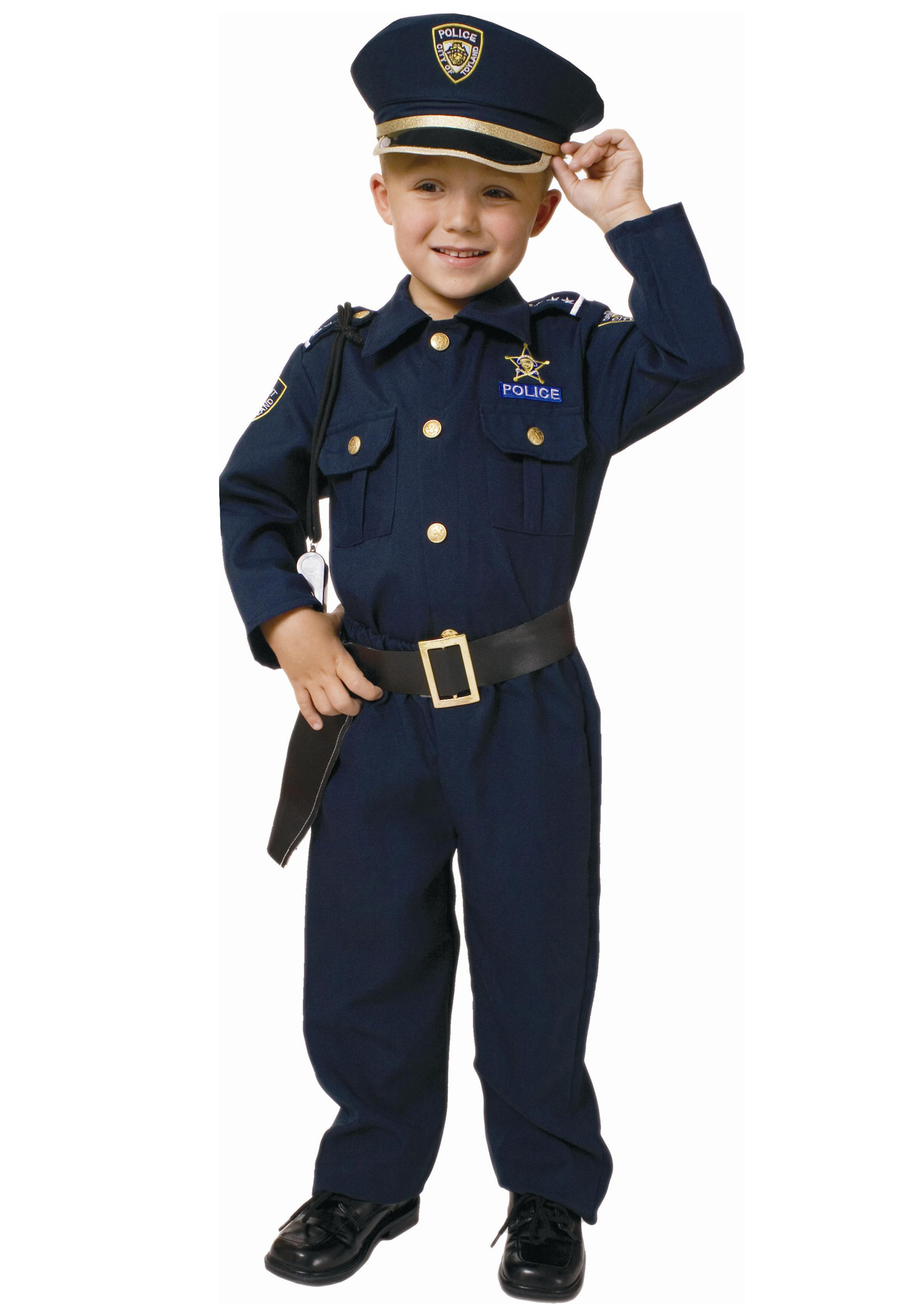 Yes, son, boys can be police officers, too.