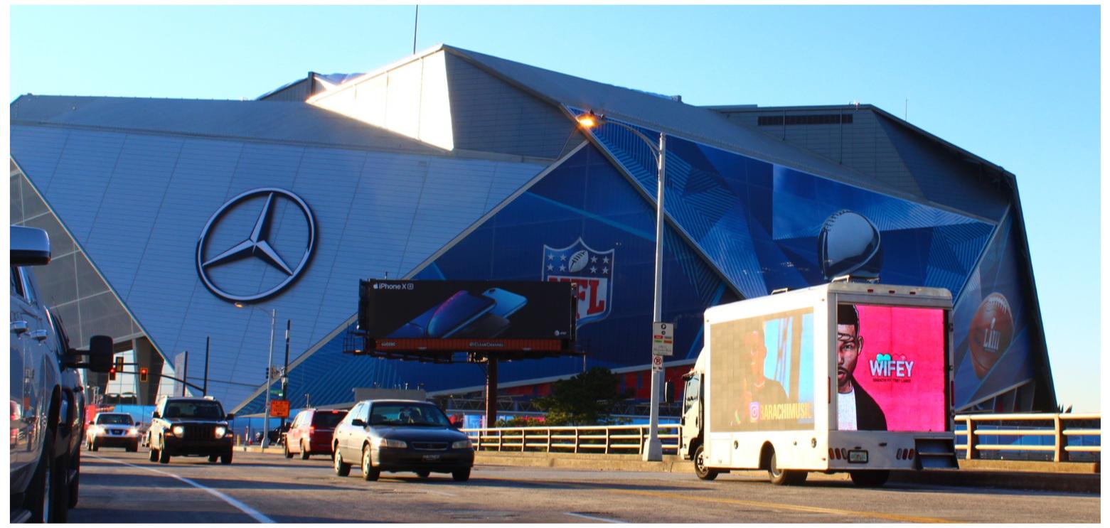 Digital LED Billboard Truck in Atlanta