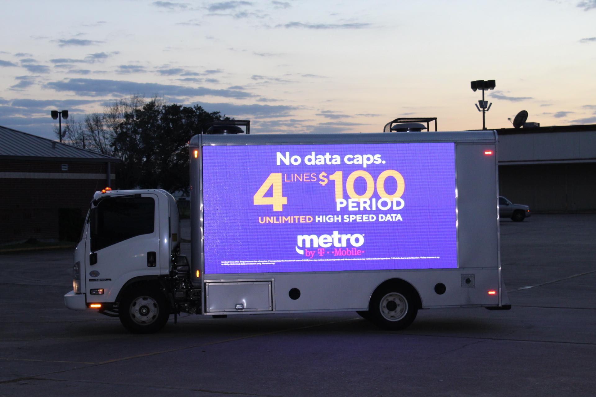 Louisiana Mobile Billboard - Metropcs Digital LED Mobile Billboard truck