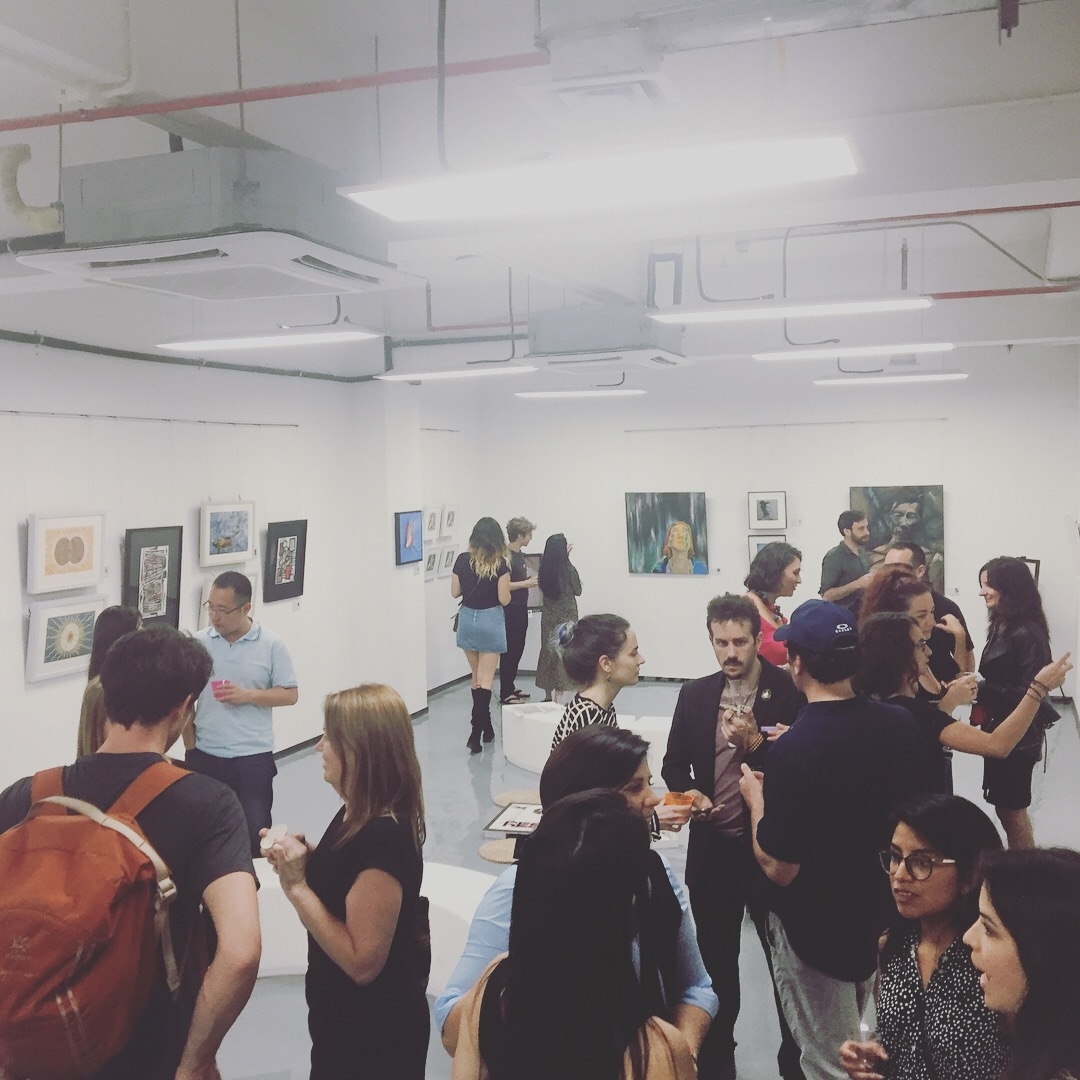 "Opening event of ISZAF's ""Call & Response"" show at Jardin Orange Artist Residency, May 2018"