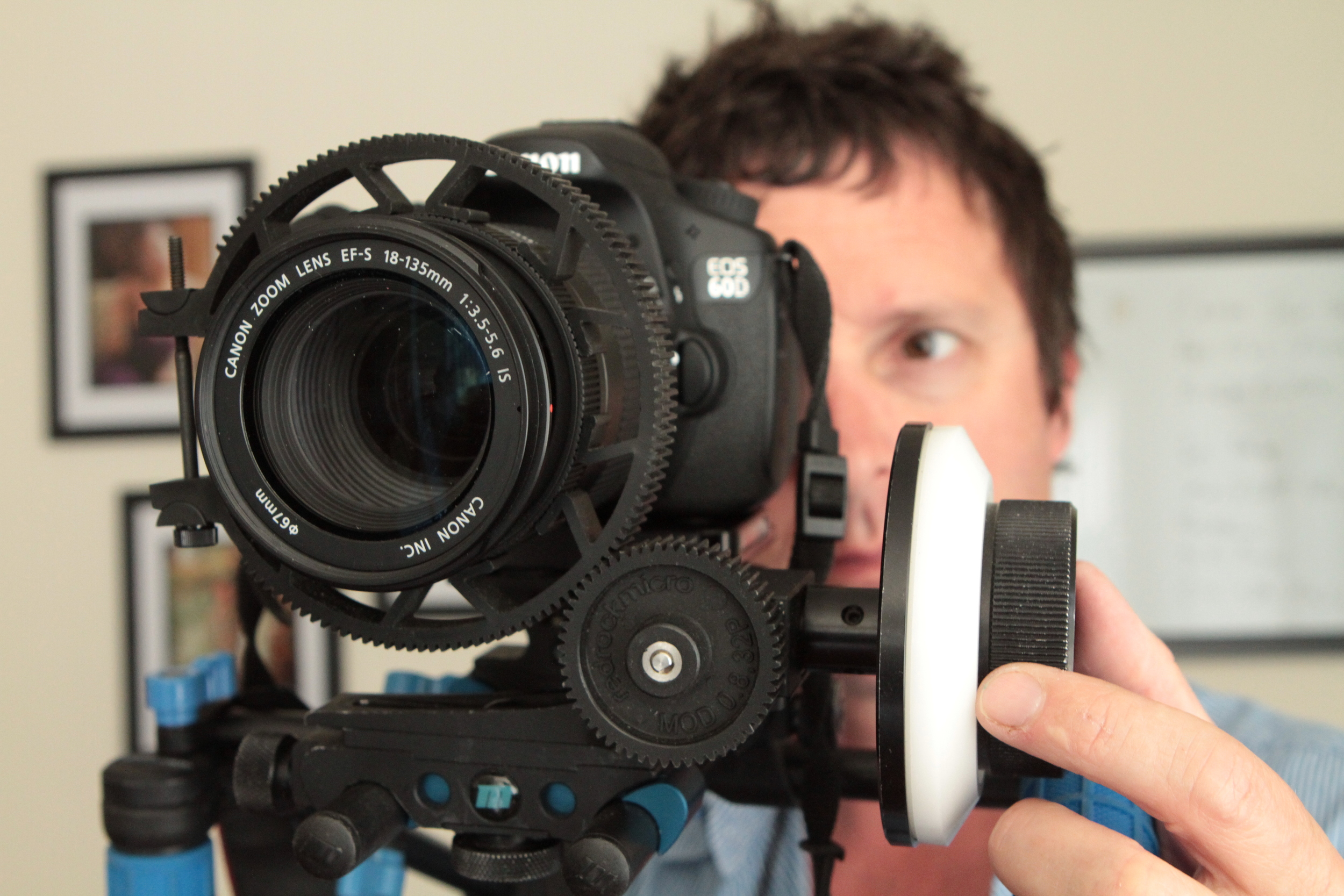 Zacuto mount on a RedRock handheld rig