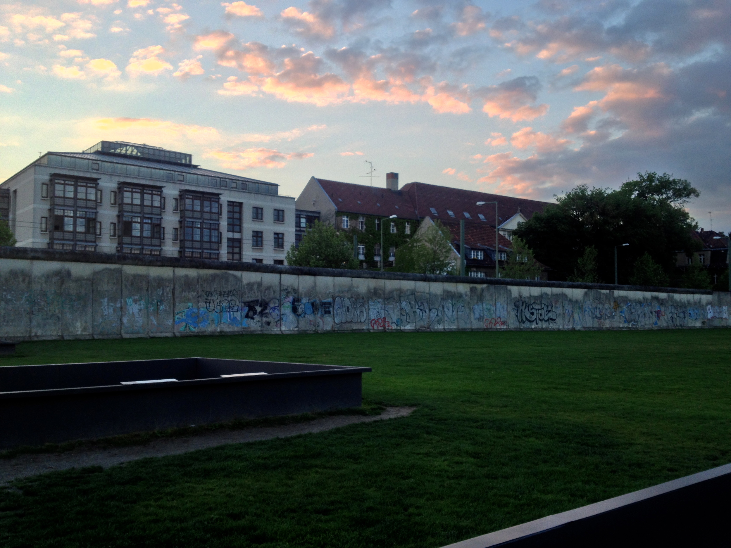 Sunset over the Berlin Wall memorial