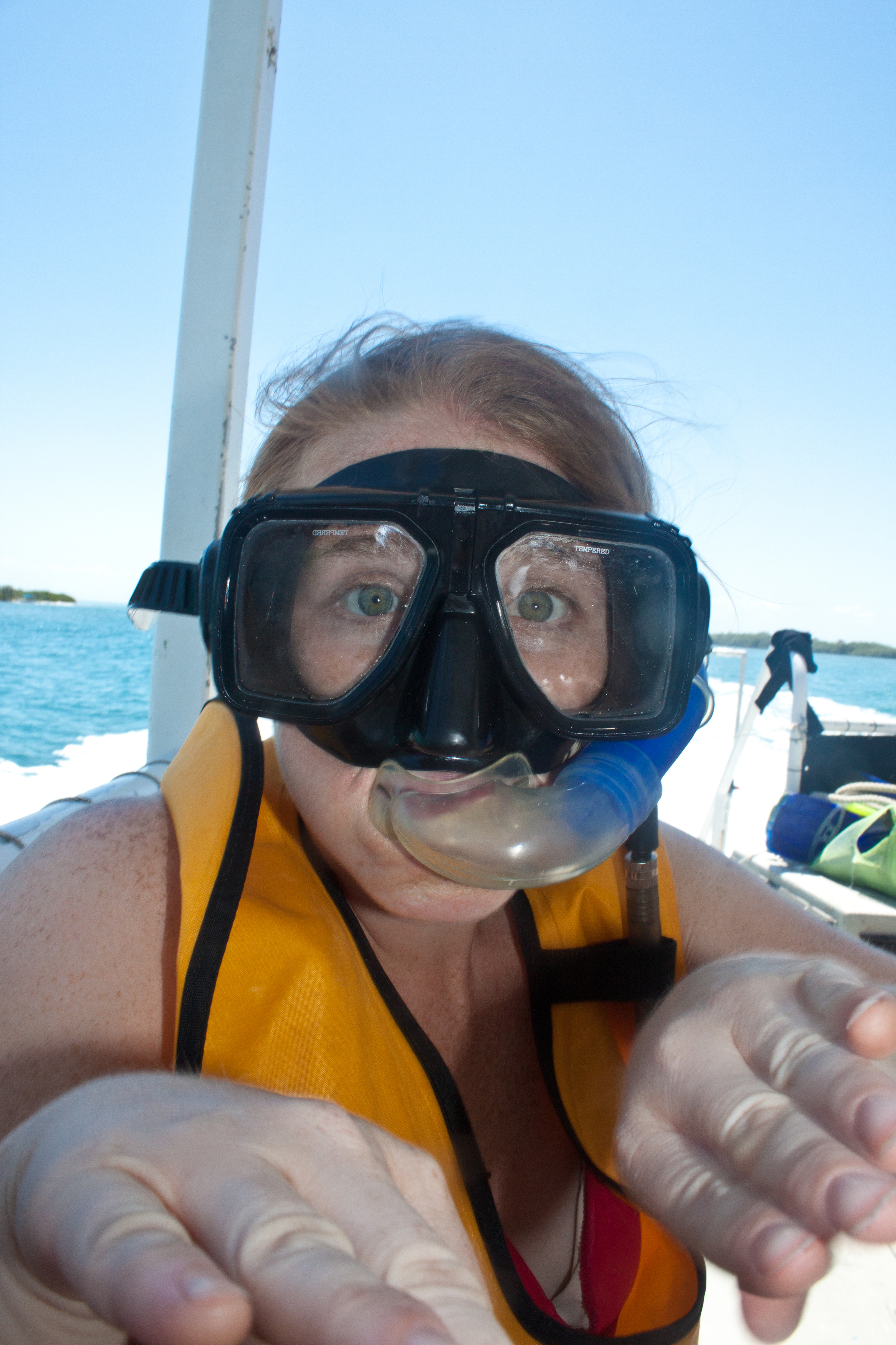 Getting ready to snorkle!