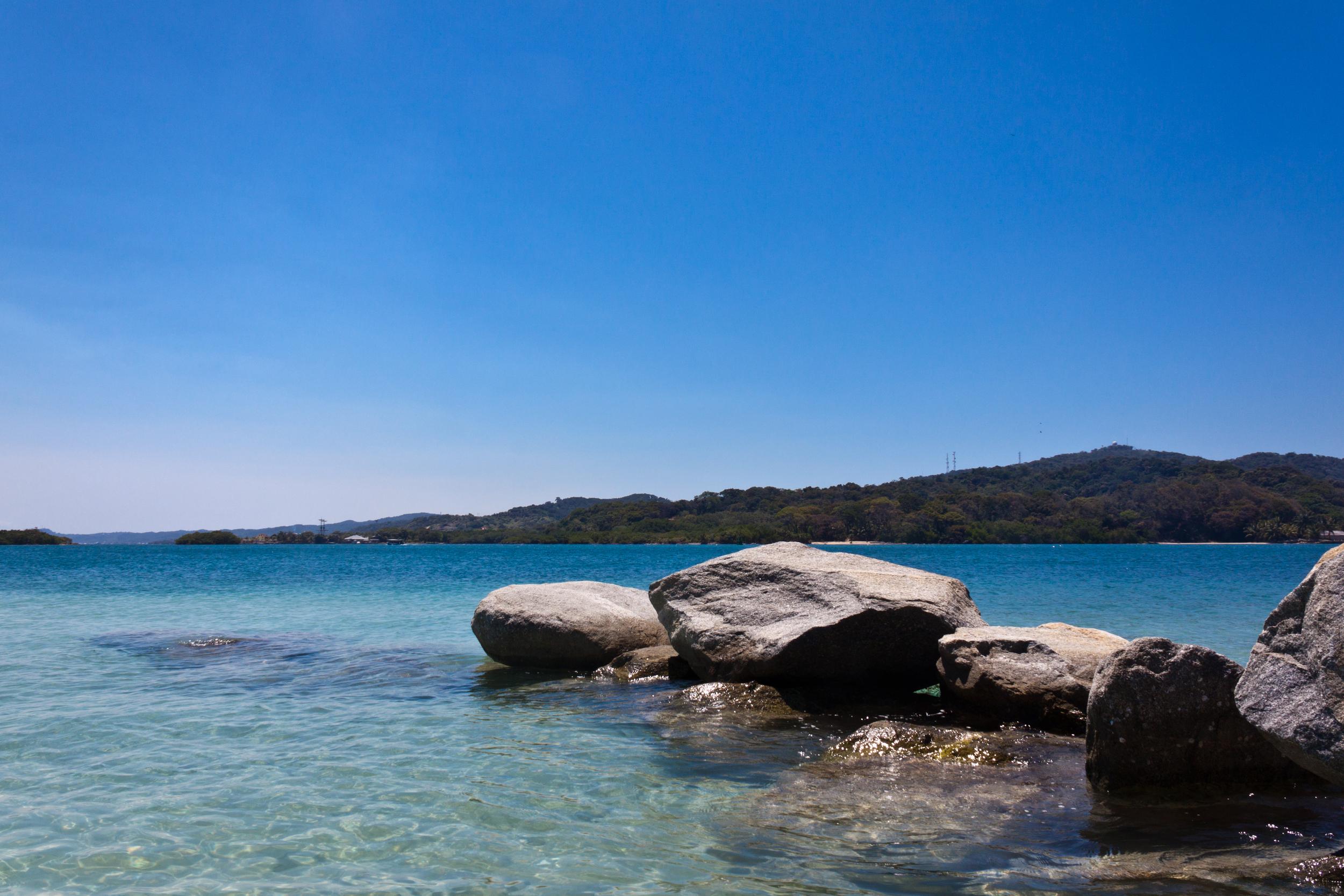 Resting at beach in Isla Roatan