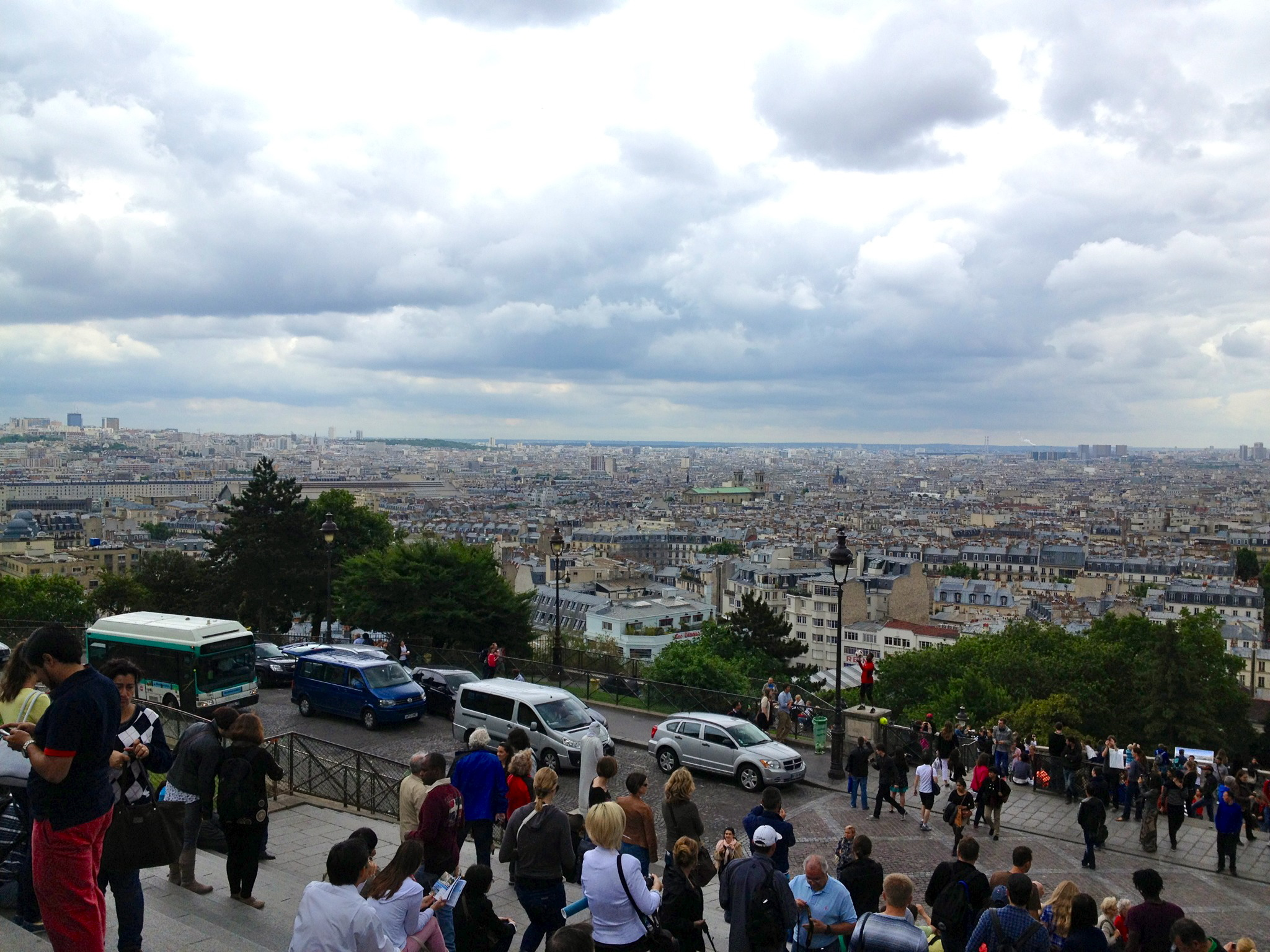 This view makes even the Eiffel look tiny.