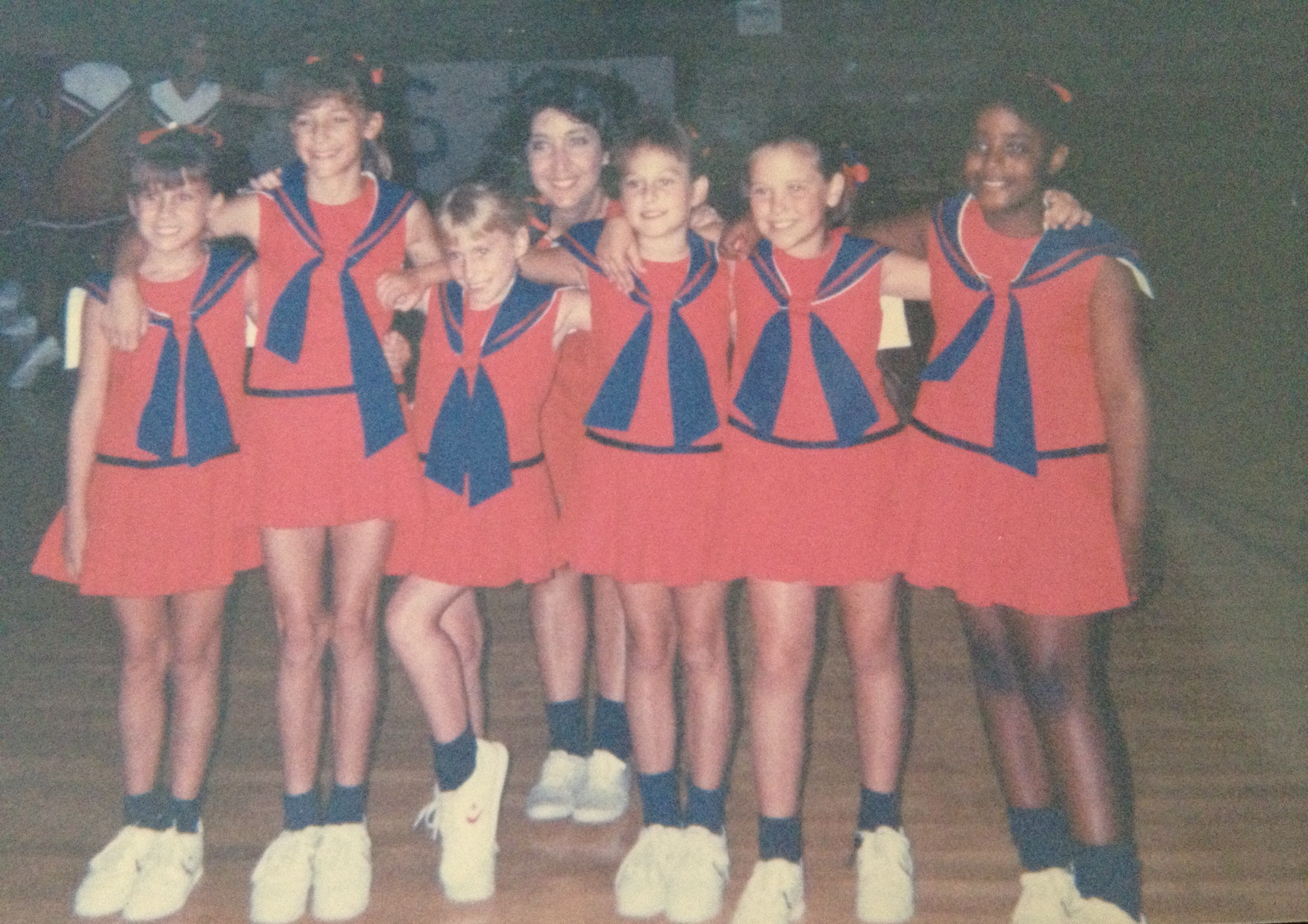 I think you can guess which one is me. Lee is the second girl from the right.