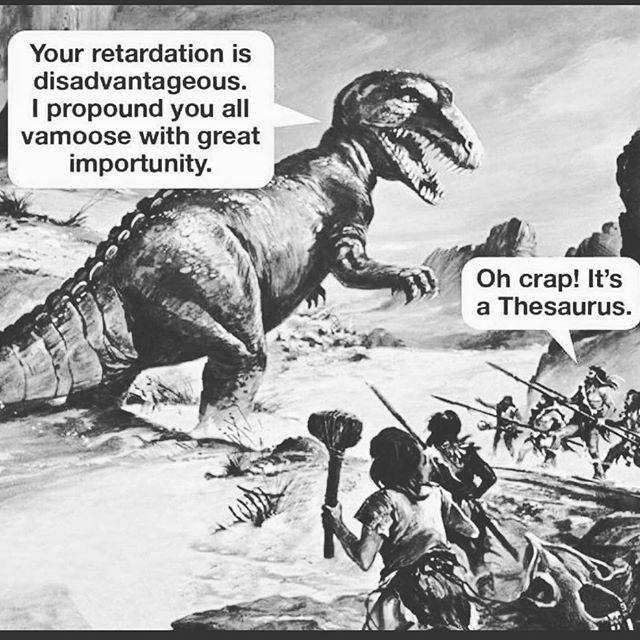 In stitches... Lol Theasurus... #dinosaur #dinomite #lol