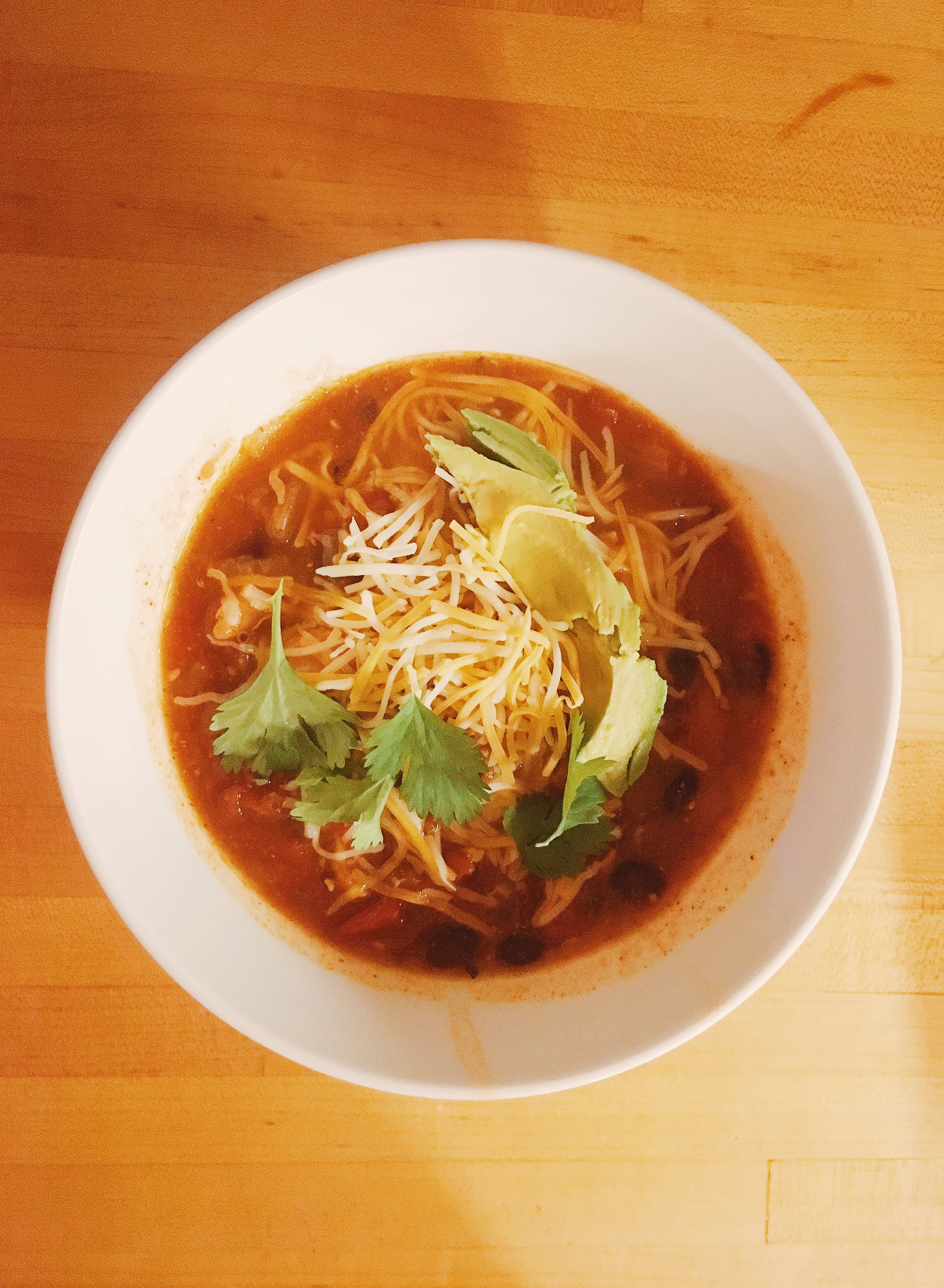 Homemade tortilla soup from my favorite human.