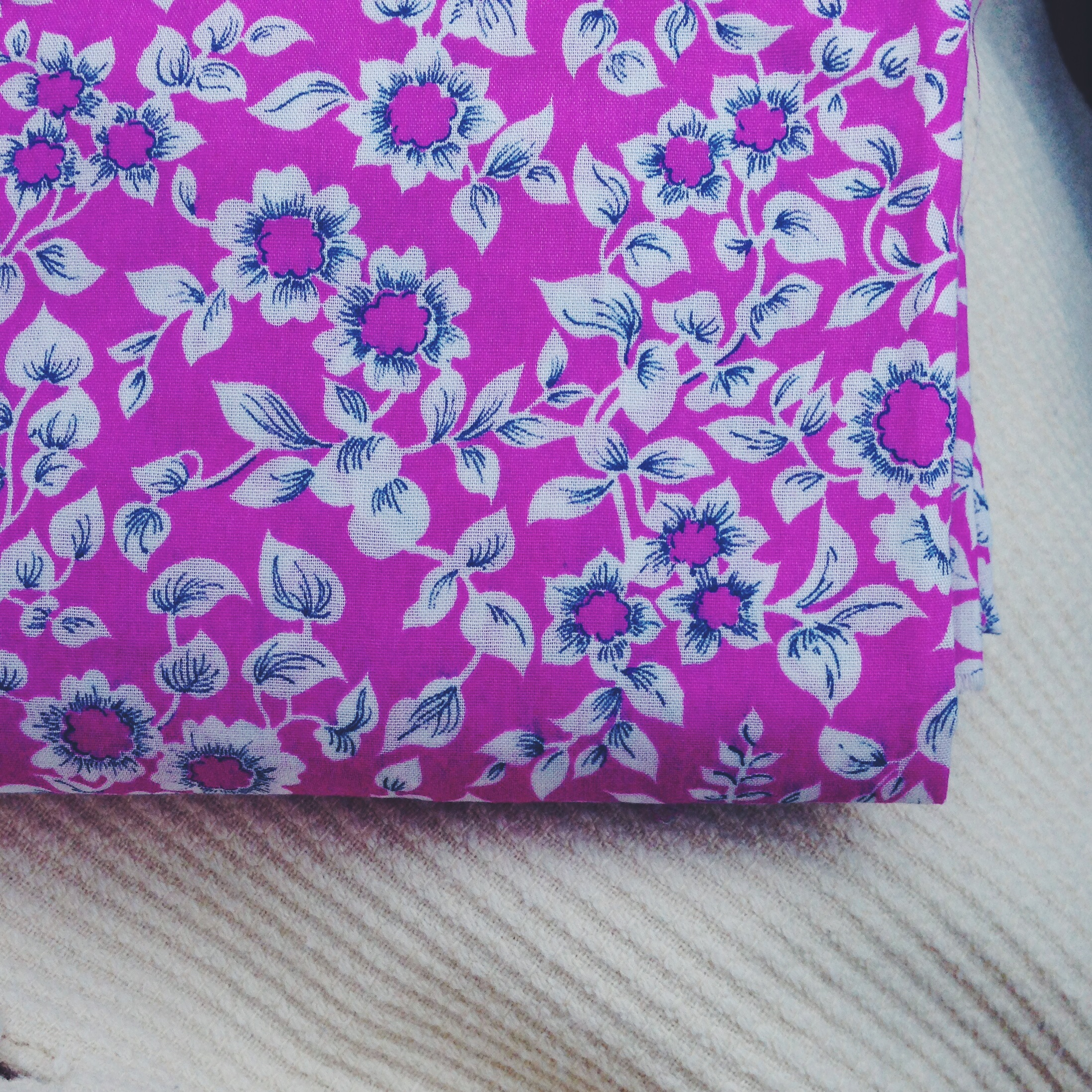 Vintage floral fabric - available  here .
