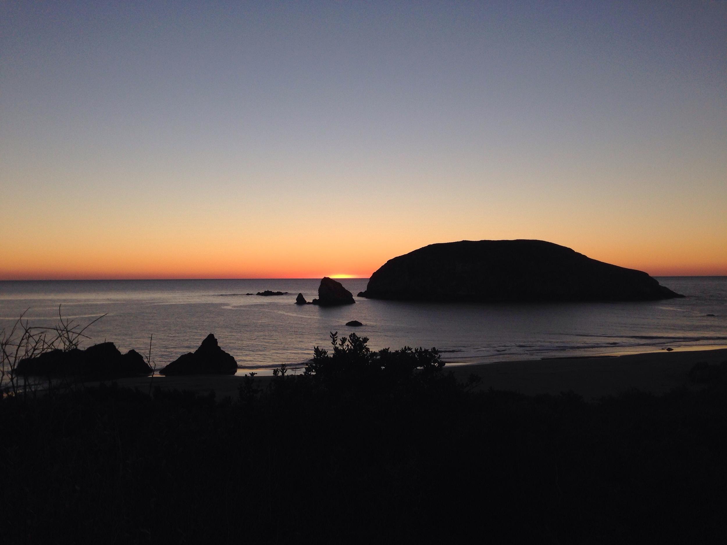 Sunset on the southern Oregon coast