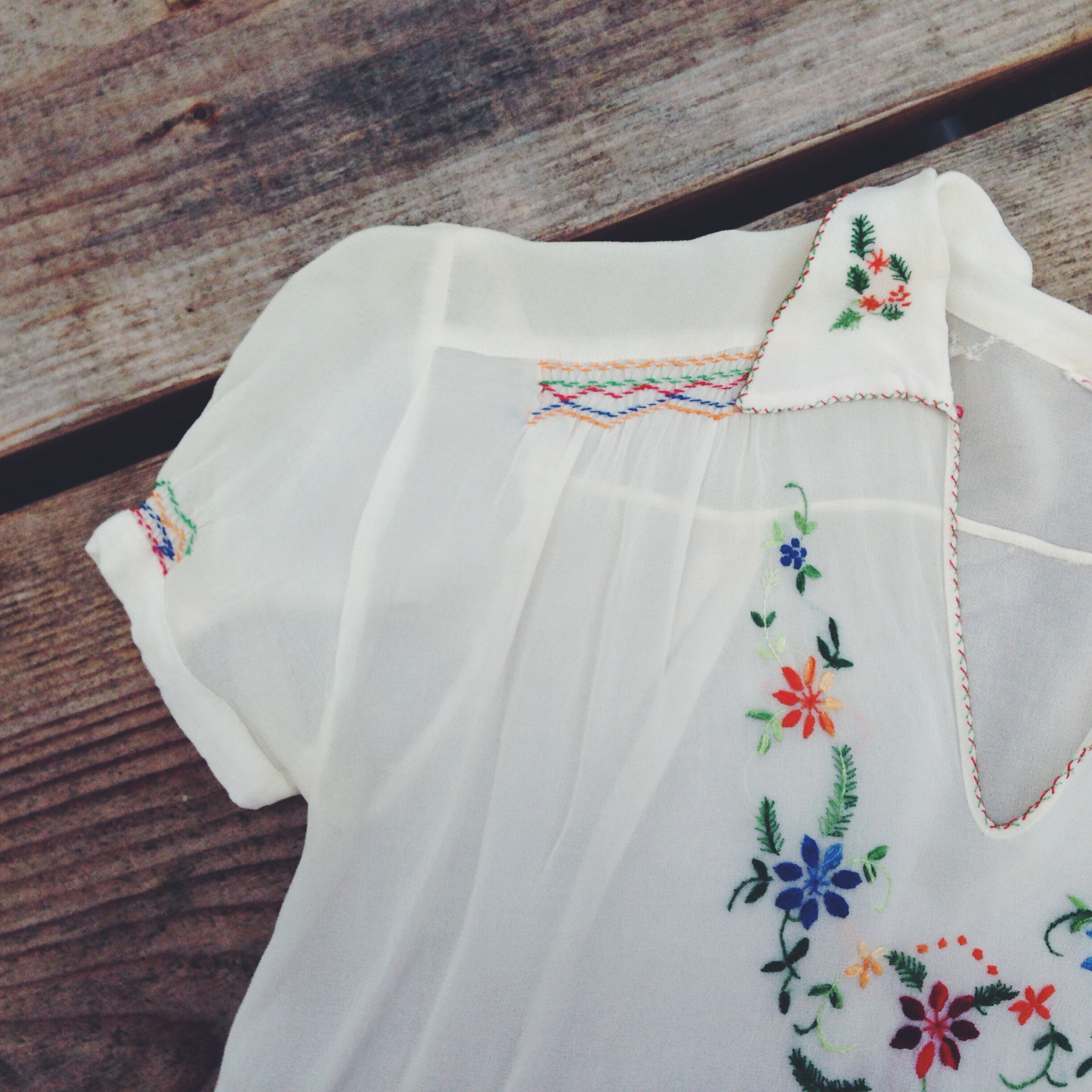 1930's embroidered blouse